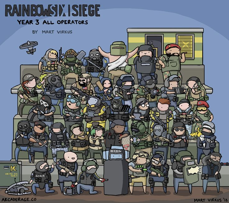 All Rainbow Six: Siege Operators Together In One Picture